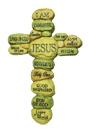 10吋英文掛牆十字架