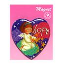 心型天使磁貼