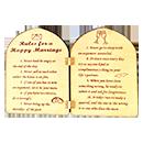 心弦木刻Rules of marriage