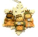 聖誕禮物裝飾擺設-雪花賢士吊飾