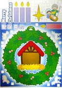 教會聖誕裝飾擺設-「喜迎聖誕」將臨環大手工