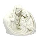 聖誕禮物裝飾擺設-白色聖家像