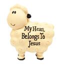 小羊擺設-我心是主耶穌的家