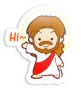 耶穌系列扣章(耶穌Hi)